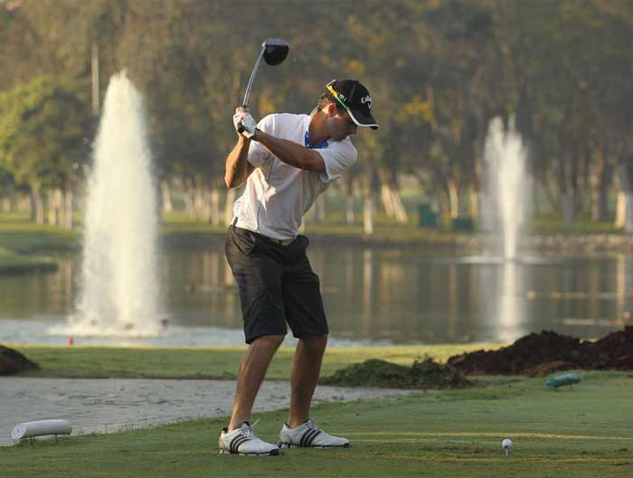 Now Ricky Ponting does not need a ride on the wild side more than he gets on the field and with television sets in the dressing room. Here, the Aussie skipper enjoys a quiet game of golf at the Karnataka Golf Course. (Getty Images)