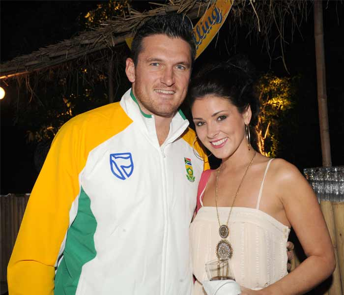 Graeme Smith too can relate with feelings beyond the platonic one with his willow. The South African skipper gets himself clicked at the Taj Palace in the Capital with girlfriend? Morgan Deane. (Getty Images)