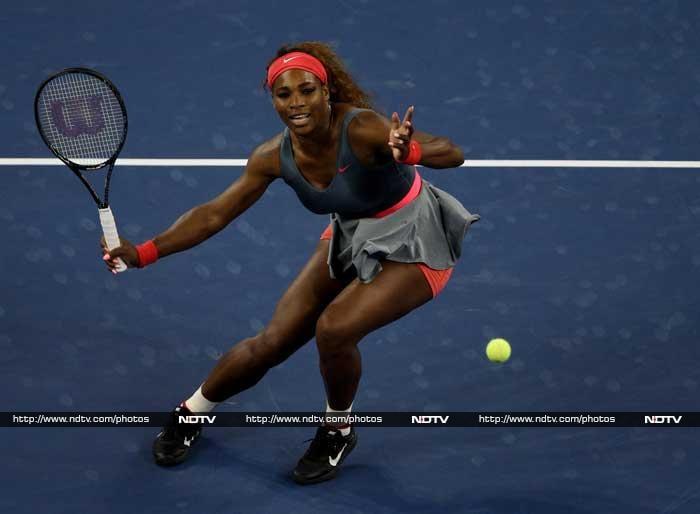 Serena Williams was ruthless against birthday girl Carla Suarez Navarro, routing her 6-0, 6-0.