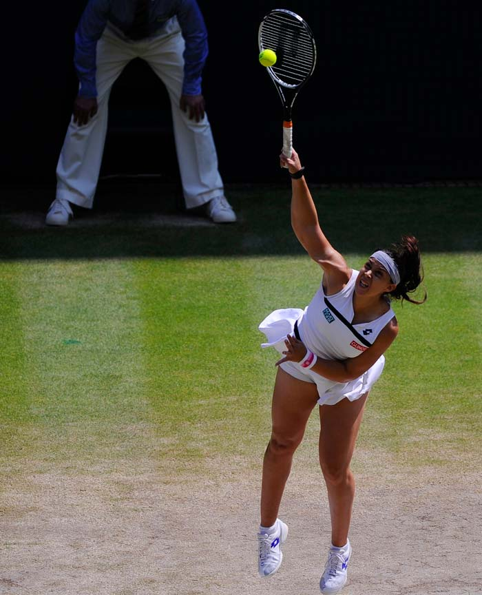 """Known for a high ball toss during serve, Bartoli sealed her maiden title with an ace, making it a 6-1 6-4 win. After the triumph she said, """"To become Wimbledon champion with an ace I couldn't have dreamed it. I have been practicing my serve for long and saved it for best moment."""""""