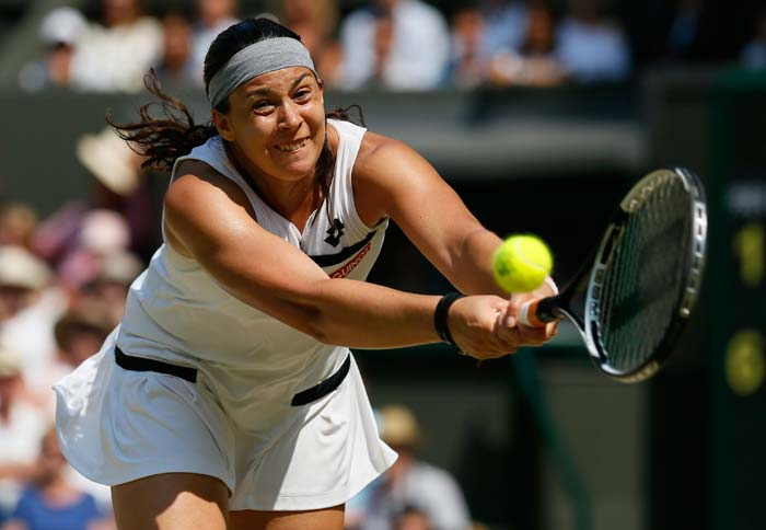 Marion Bartoli, the 15th seed, who had made the title clash at Wimbledon in 2007 only to lose to Venus Williams, looked ever so determined on Saturday, displaying her attacking and intense game.