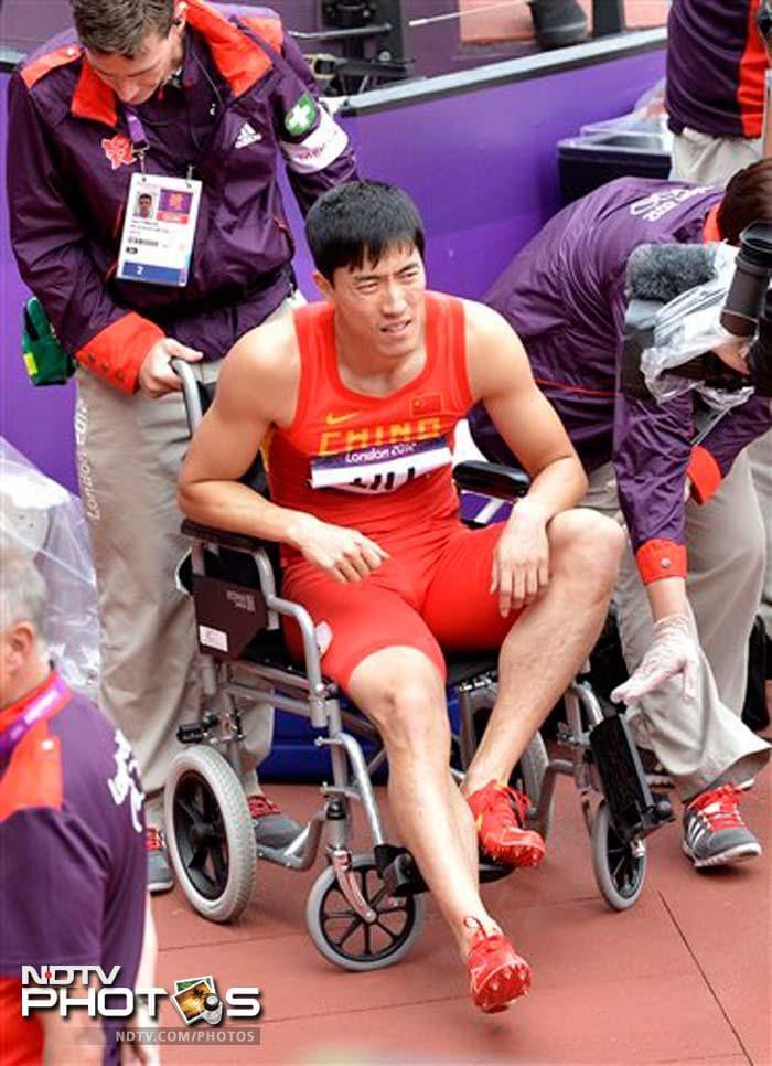 Bad luck follows Liu Xiang from Beijing to London