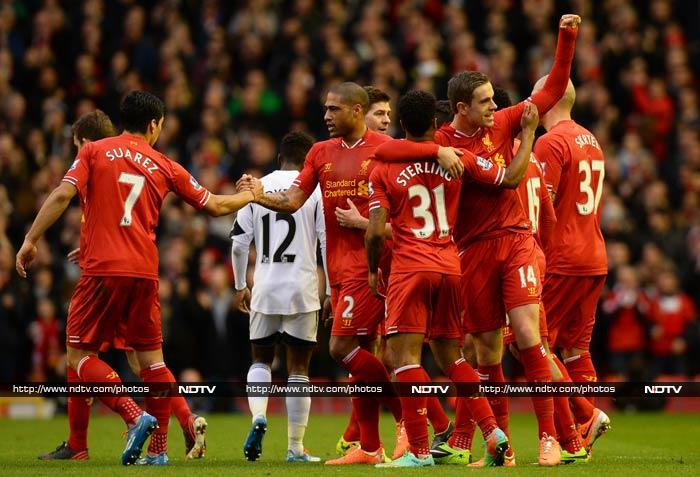 Liverpool continued its aggression with a 4-3 win against Swansea on Sunday (February 23). <br><br>The same though cannot be said about Tottenham who lost to Norwich City. <br><br>All images courtesy AFP.