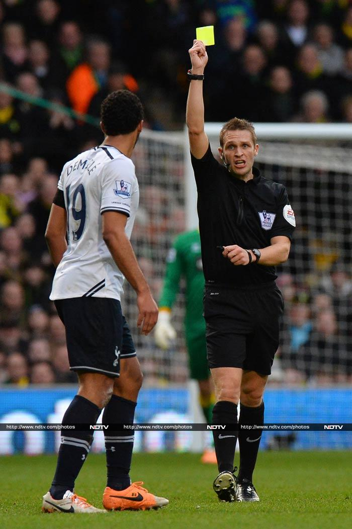 To add to woes, Belgian midfielder Mousa Dembele was also shown the yellow-card - making for a forgettable outing for Spurs.