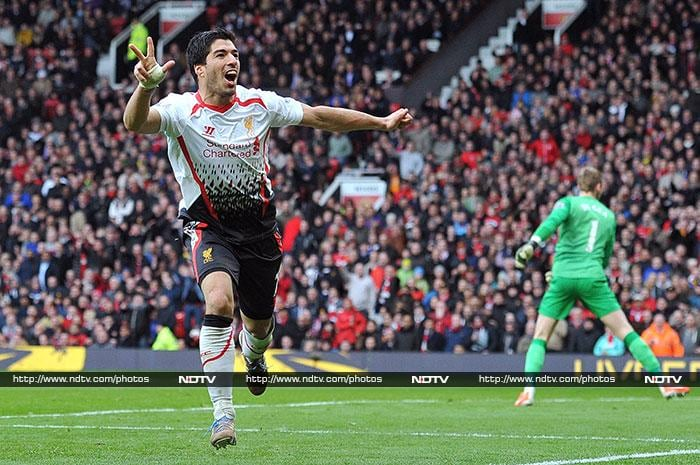 Luis Suarez added a third goal in the 84th minute to give Liverpool their first victory at Old Trafford in five years.