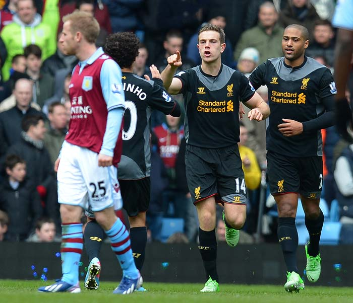 It was Jordan Henderson who equalised for his team followed by a goal from Steven Gerrard.