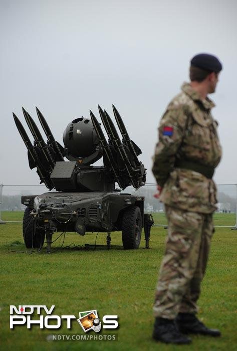 "British military chiefs said they hoped the deployment of surface-to-air missiles in a London park would ""allay people's fears"" as the armed forces geared up for the 2012 Olympic Games."