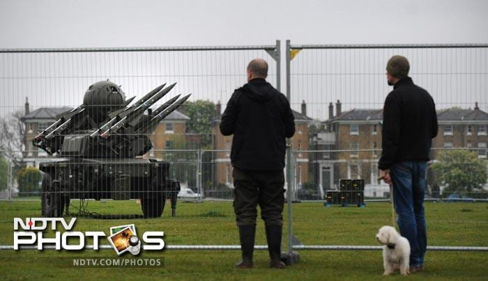 The military hardware caught the attention of passing dog walkers on the common.