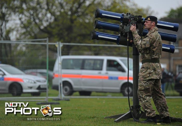 Blackheath Common - where the annual London Marathon begins - is one of four planned sites around London for Rapier deployment. As part of the training exercise, Typhoon fighter jets are stationed near the capital, along with military helicopters and the amphibious assault ship HMS Ocean.