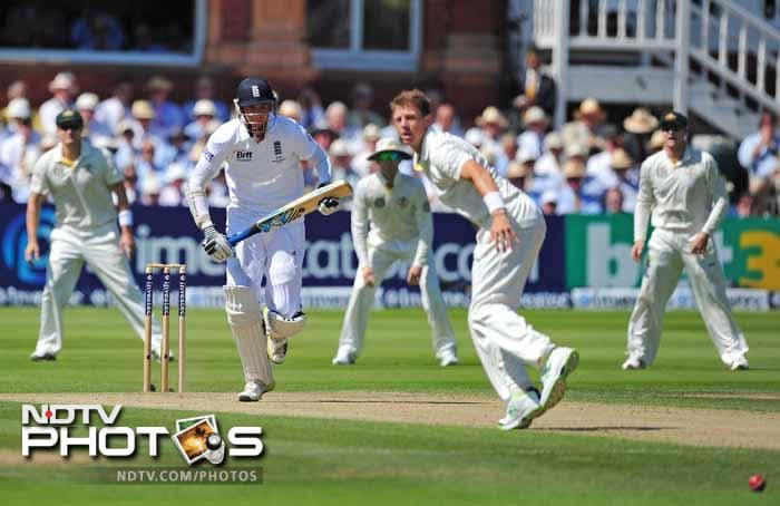 Stuart Broad and Graeme Swann were associated in a 48-run partnership - England's highest tenth-wicket record vs Australia at Lord's, surpassing the 47 between James Anderson and Graham Onions in July 2009.