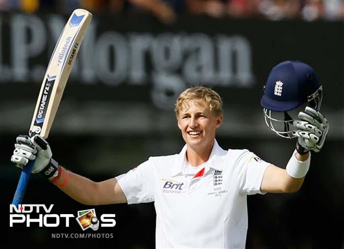 Joe Root notched up his second century in Tests - first as an opener - to help England gain a massive 566-run lead over hapless Australia on Day 3. (All AP and AFP images)