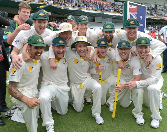 After four long years, that included three successive Ashes series, Australia reclaimed the prized urn. The much-deserved celebrations will go long into the night!