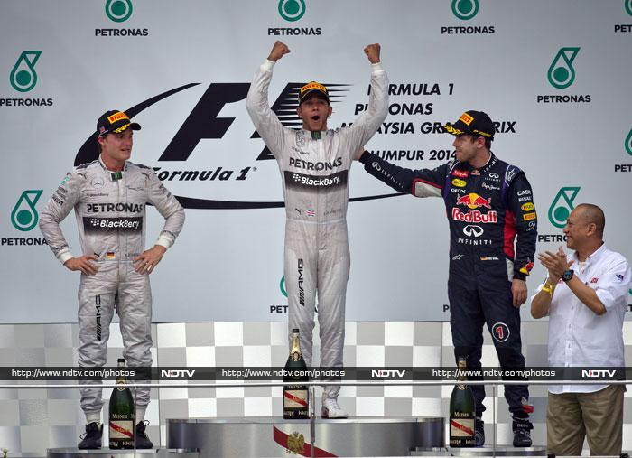 Nico Rosberg still leads the Formula One drivers' championship table with 43 points, while his Mercedes teammate Lewis Hamilton is second with 25 points. Fernando Alonso is third with 24.