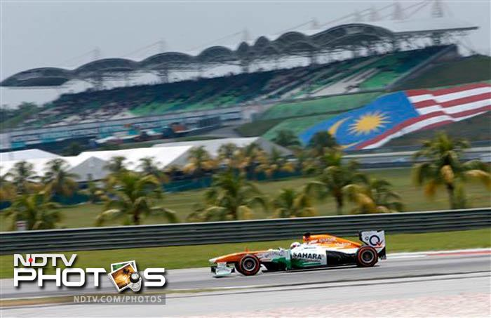 Force India driver Paul di Resta of Britain will start fifteenth on the grid at Malaysian Grand Prix on Sunday at Sepang.