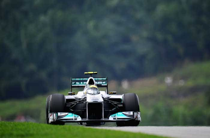 Nico Rosberg will start in ninth position in his Mercedes. (Getty Images)