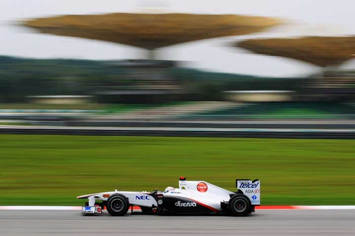 Sauber's Kamui Kobayashi will start in tenth spot. (Getty Images)