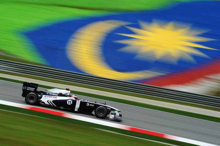 Former Ferrari driver Rubens Barrichello will start from the 15th position in his Williams. (Getty Images)