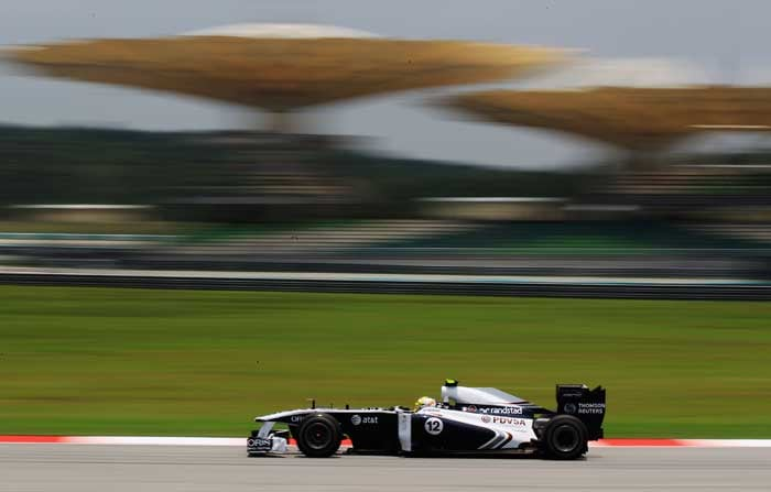 Williams' Pastor Maldonado will start from the 18th position. (Getty Images)