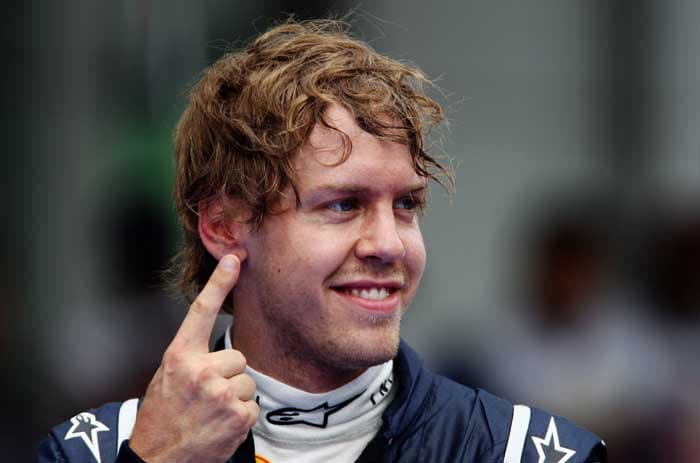 Sebastian Vettel edged it at the very end, as he scraped into the pole position. (Getty Images)