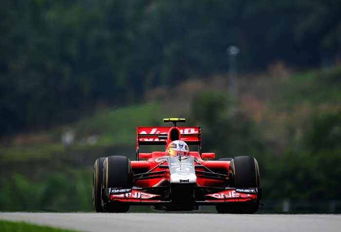 The Virgin Racing car would see Jerome d'Ambrosio start in 22nd position. (Getty Images)