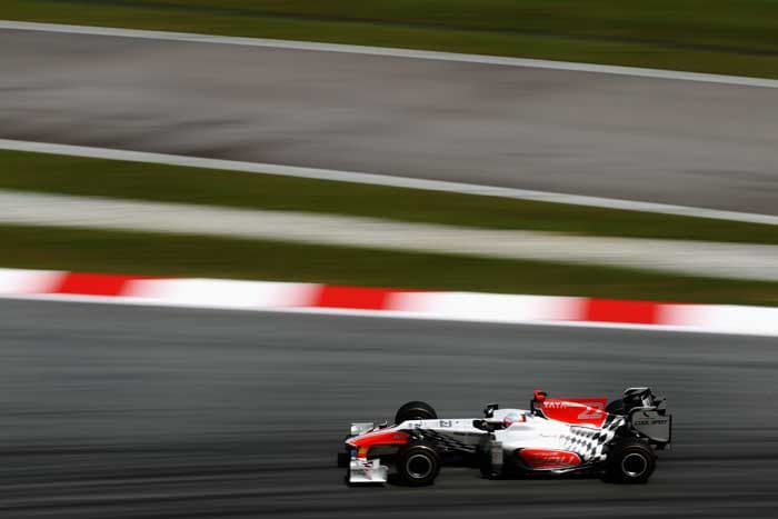 India's Narain Karthikeyan concludes the line-up in his Hispania. (Getty Images)