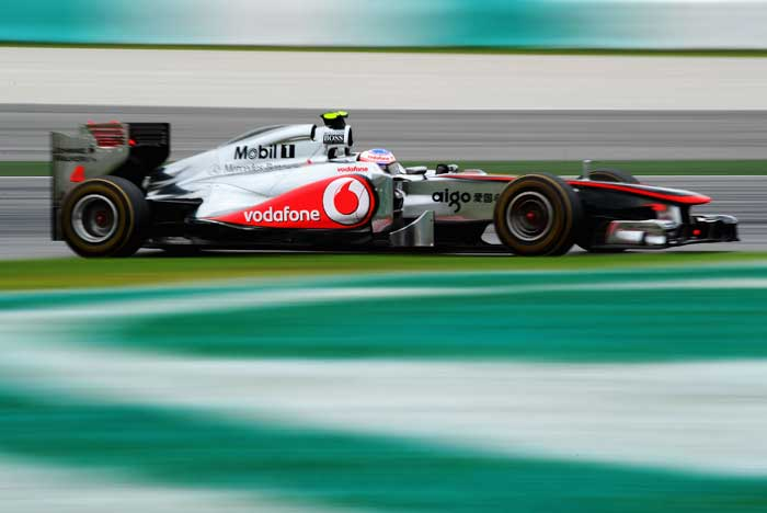 Mclaren's Jenson Button will start from the fourth spot. (Getty Images)