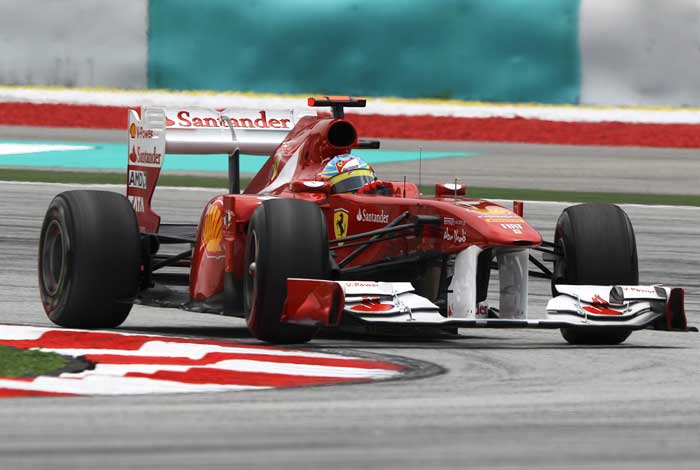 Fernando Alonso(Spain) of Ferrari will start from the fifth spot. (AP Photo)