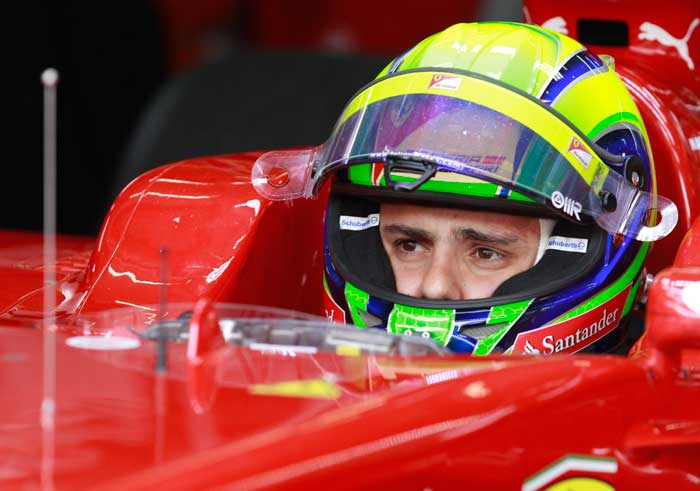 Brazillian driver Felipe Massa will start from seventh position in his Ferrari. (AP Photo)