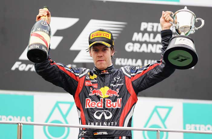 Red Bull's Sebastian Vettel led from start to finish to register his second consecutive win of the 2011. (Getty Images)