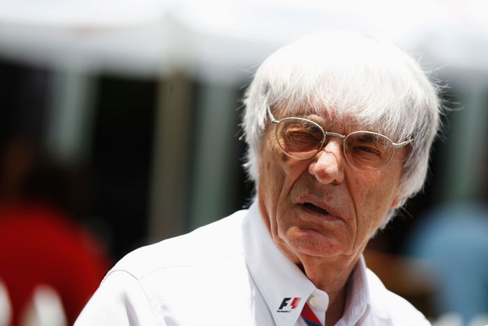F1 supremo Bernie Ecclestone walks in the paddock during practice for the Malaysian Formula One Grand Prix at the Sepang Circuit. (Getty Images)