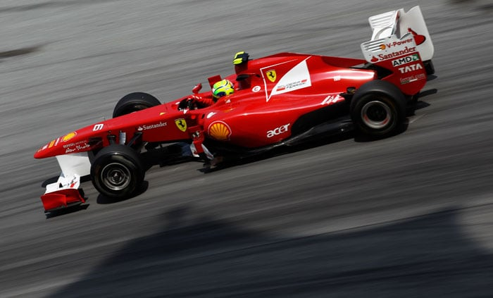 Felipe Massa of Ferrari drives during practice for the Malaysian Formula One Grand Prix at the Sepang Circuit. (Getty Images)