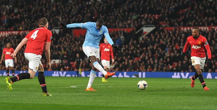 Yaya Toure rubbed salt into United's wounds with a third goal in the 90th minute as Manuel Pellegrini's men, now second in the table, completed a derby double following a 4-1 win over United at Eastlands in September.