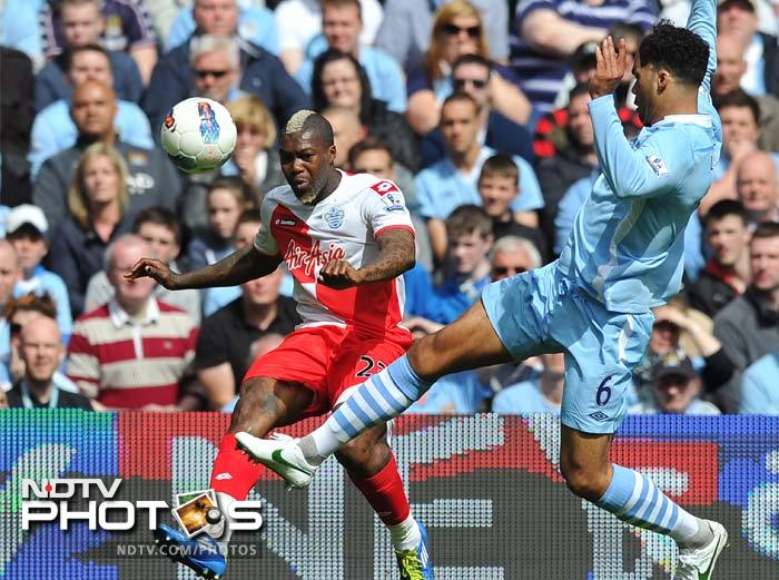 After the restart it didn't take long for a momentum shift as Djibril Cisse capitalised on an error by defender Joleon Lescott to put QPR level with City three minutes into the second half.