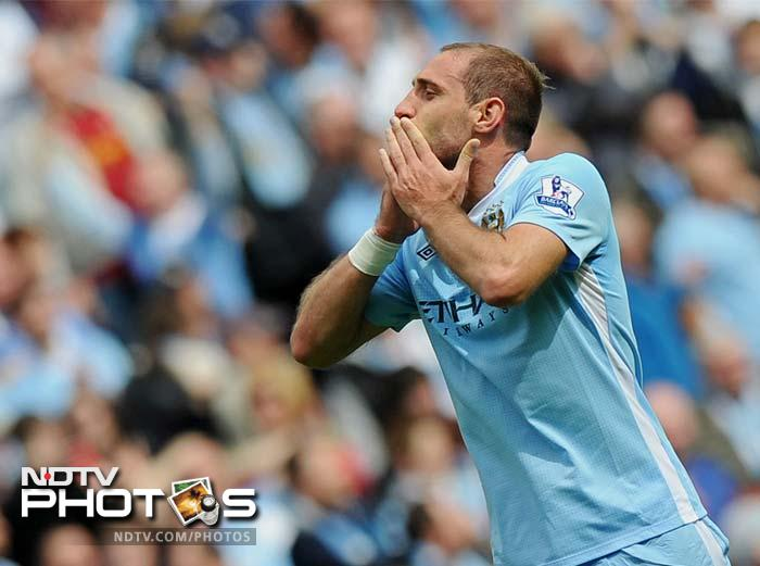 Pablo Zabaleta's strike in the 39th minute seemed to have put City on course for their first league title since 1968.