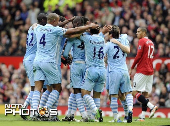 <b>Old Trafford shellshocked after drubbing<br><br> October 23: Manchester United 1 Manchester City 6:</b><br><br> The tone was set for City when they thrashed Manchester United 6-1 at Old Trafford. What was looked forward as a crucial clash turned into a nightmare for the Red Devils as City simply ran them over.