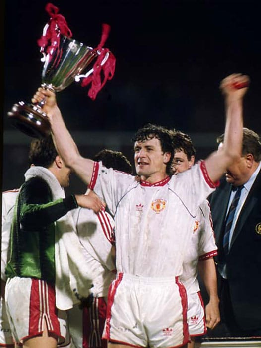 <b>Manchester United 2 Barcelona 1: </b>United's first victory in Europe in 23 years, the Cup Winners Cup final in Rotterdam belonged to Mark Hughes. The Welsh striker had endured a miserable stay at the Nou Camp before being sold back to United.<br><br>Hughes gave his former employers a painful taste of what might have been by scoring two second-half goals, the first a close-range toe-poke following a Steve Bruce header, the second a thunderous shot from an acute angle.<br><br>Ronald Koeman scored a late consolation for Barcelona.
