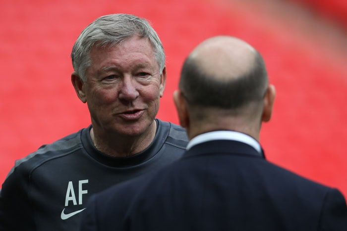 Manchester United manager Sir Alex Ferguson will look to get his third Champions League title with the club. (AFP Photo)