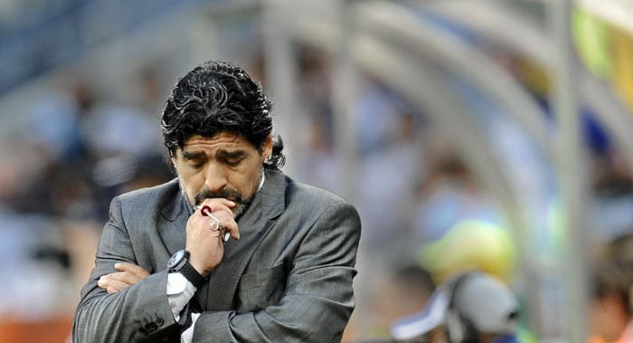 The result was a foregone conclusion as the Germans plundered the Argentine defence to score 4 goals.<br><br> The agony and despair could be clearly seen on Maradona's face as his dream of leading his nation to a third World Cup triumph crashed in front of his eyes.