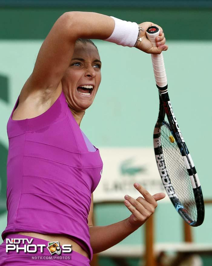 """Errani, when told that her runner-up finish would put her in the world top 10 for the first time, replied: """"I don't feel like top 10, but I will be top 10, so it's incredible for me and I can't believe it."""""""