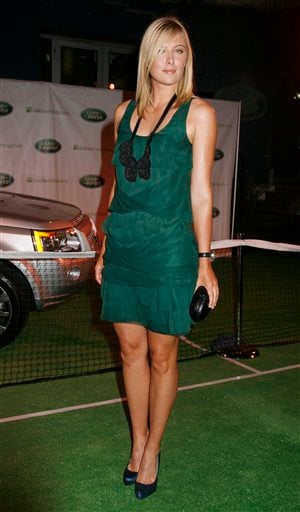 Tennis star Maria Sharapova, of Russia, arrives to an auction hosted by Land Rover, Thursday, August 23, 2007, in New York, with proceeds benefiting the Maria Sharapova Foundation.