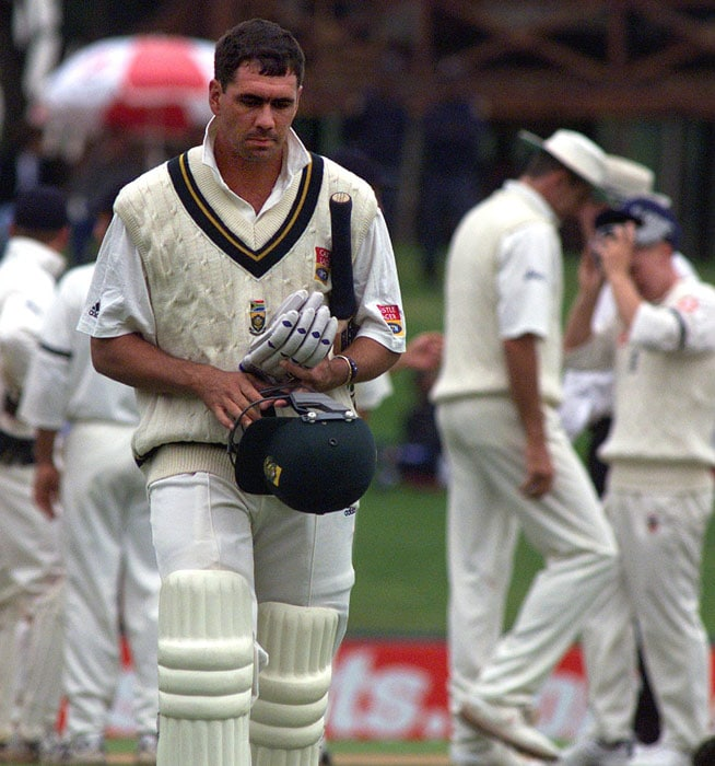 On 7 April 2000: Delhi police revealed they had a recording of a conversation between South Africa captain Hanse Cronje and bookie Sanjay Chawla, in which they learnt that Cronje accepted money to throw matches. On 11 October Cronje was banned from playing or coaching cricket for life.<br><br>He also named Salim Malik, Mohammed Azharuddin and Ajay Jadeja (India). Jadeja was banned for 4 years, while Azharuddin was banned for life.<br><br>Herschelle Gibbs and Henry Williams were suspended from playing international cricket for 6 months. Gibbs was also fined R60,000 and Williams R10,000, while Strydom received no punishment.