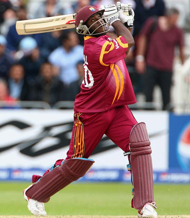 Xavier Marshal (2008): The Jamaican came to the crease, lofted 12 massive hits beyond the boundary to help himself to 157and in the process, left behind him a completely demoralized Canadian bowling attack. (Getty Images)