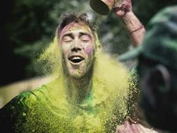 World T20: Glenn Maxwell Celebrates Holi in Style