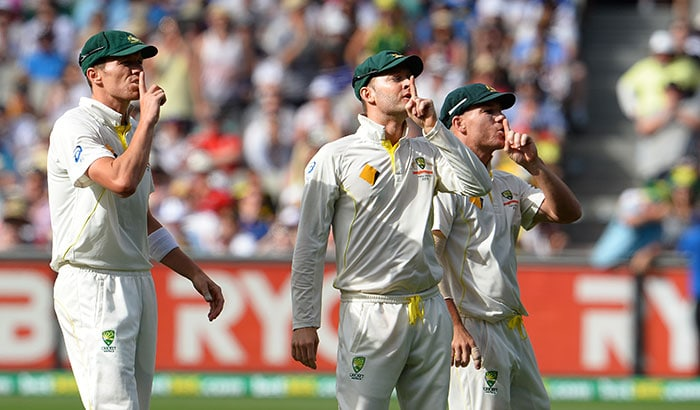 After that rollicking spell from Johnson, the Aussie players, quite literally silenced the Barmy Army fans at the MCG.