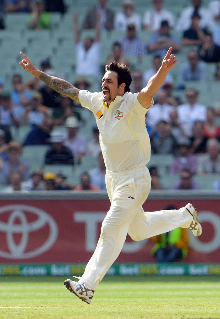 Mitchell Johnson's spell with the second new ball turned the tide in Aussie's favour as he struck twice to dismiss Ben Stokes and Jonny Bairstow cheaply.