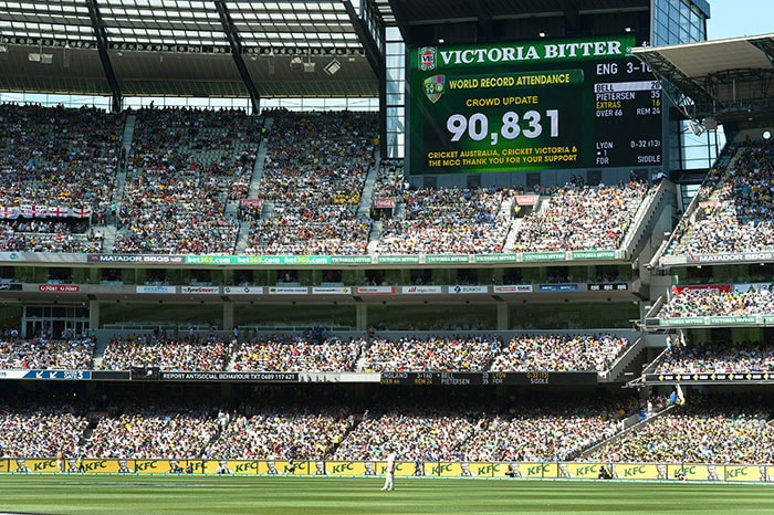 It was Boxing Day and the Australians came out in large numbers. The Melbourne Cricket Ground witnessed over 90,000 spectators on Day 1 of the fourth Ashes Test, a world record for Day 1 of any Test. (All images from AP and AFP)