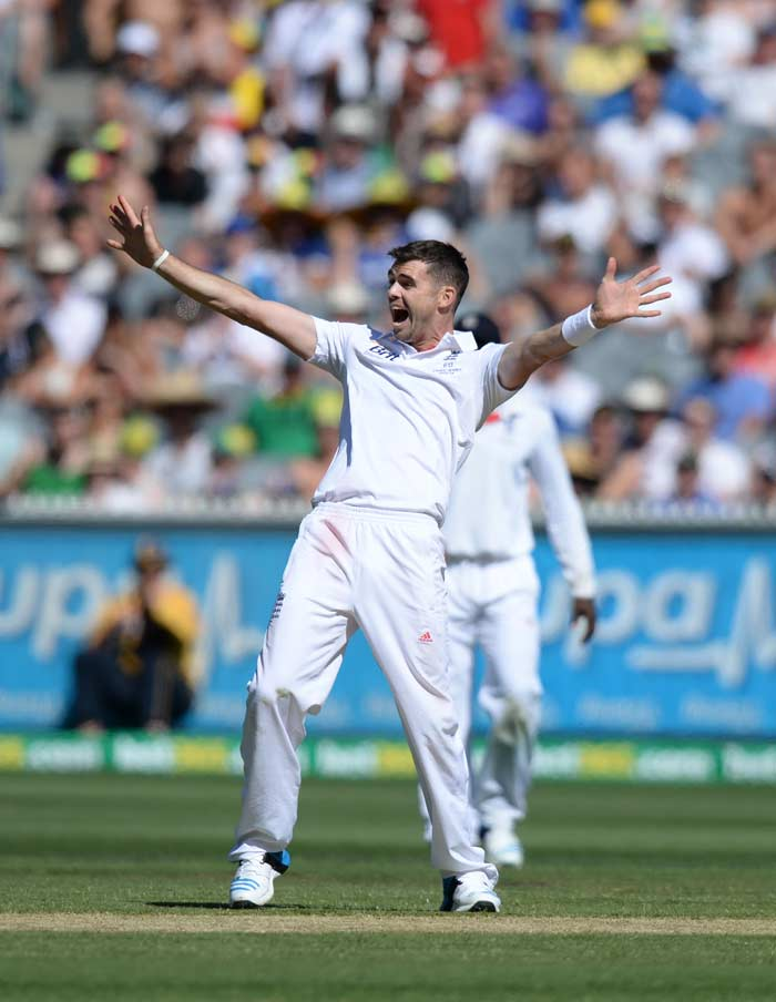 James Anderson finally tasted success with the ball on this Ashes trip Down Under with a three-wicket haul, his best show in the series so far.