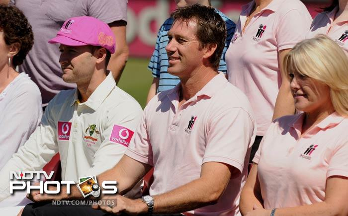 The Sydney Cricket Ground will turn pink for the second Test between India and Australia in honour of McGrath's late wife Jane and in support of the McGrath Foundation, which works to increase awareness of breast cancer and raise money to fund breast cancer nurses. (AFP Photo)