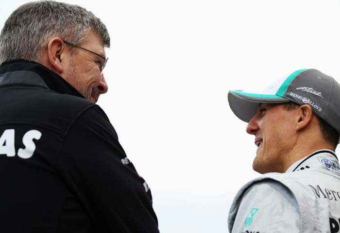 The Brawn-Schumi combination has always been a lethal one and it wouldn't be wrong to expect the duo to come up with a winning car, sooner or later. (Getty Images)