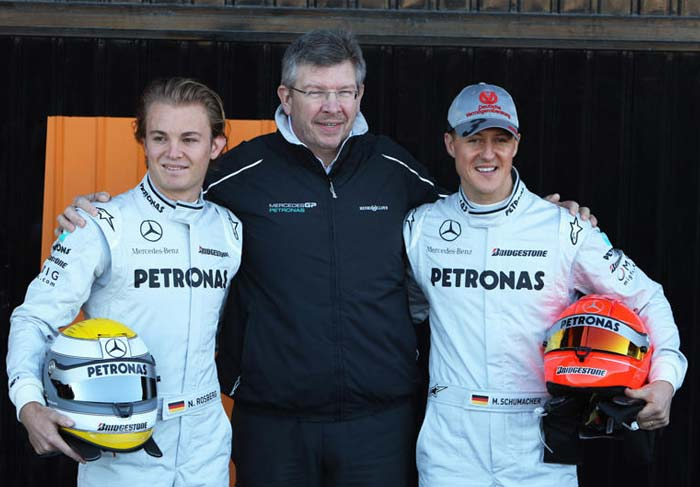 Schumacher once again teams up with compatriot Nico Rosberg, while Ross Brawn remains at the helm. Anyone with little knowledge would know the Brawn-Schumi combination is capable of. (Getty Images)